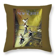 New Yorker March 27 1954 Throw Pillow