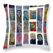 March Bachmors Dailyselfportrait Throw Pillow