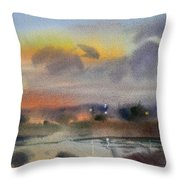 March Evening On The River Throw Pillow