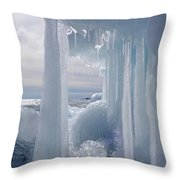 March Ice Throw Pillow