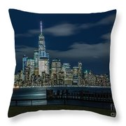March In New York_2 Throw Pillow
