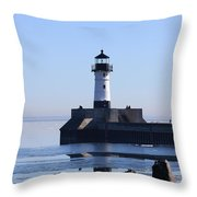 March Lghthouse Throw Pillow