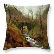 March Morning Throw Pillow by John Atkinson Grimshaw