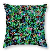 March Of The Flowers Throw Pillow