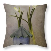 March Throw Pillow by Priska Wettstein