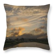 March Sunset Throw Pillow