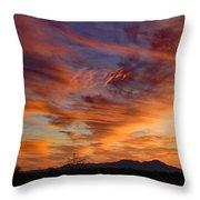 March Sunset Throw Pillow