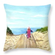 March To The Beach Throw Pillow