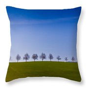 March To The Forest Throw Pillow