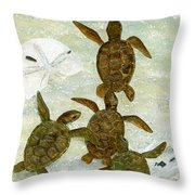 March To The Sea Throw Pillow by Kevin Brant