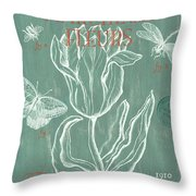 Marche Aux Fleurs Throw Pillow