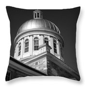 Marche Bonsecours  Throw Pillow