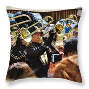 Marching Band Brass Throw Pillow