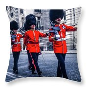 Marching Grenadier Guards Throw Pillow