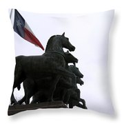 Marching Horses Throw Pillow