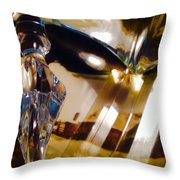 Marci Gras In Abstract Throw Pillow