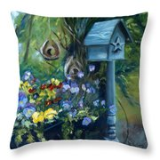 Marcia's Garden Throw Pillow