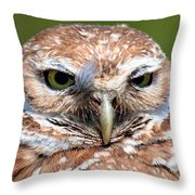 Marco Burrowing Owl - I Know What You're Thinking Throw Pillow