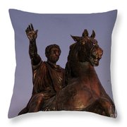 Marcus Aurelius Statue Rome Throw Pillow