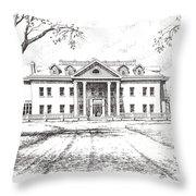 Marcus Daly Mansion Hamilton Montana Throw Pillow