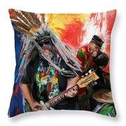 Mardi Gras 241 Throw Pillow