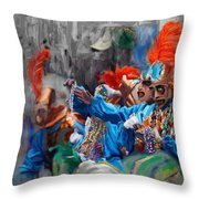 Mardi Gras 242  Throw Pillow
