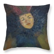 Mardi Gras Face Throw Pillow