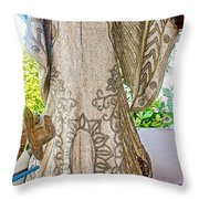 Mardi Gras Festival Dress In Para Ti School In Vila Canoas Favela In Rio De Janeiro-brazil Throw Pillow