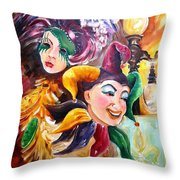 Mardi Gras Images Throw Pillow