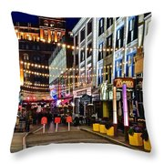 Mardi Gras In Cleveland Throw Pillow