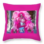 Mardi Gras Indian Throw Pillow