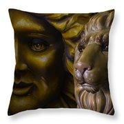 Mardi Gras Lion Throw Pillow