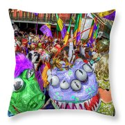 Mardi Gras Mob Throw Pillow