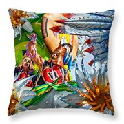 Mardi Gras - New Orleans 3 Throw Pillow