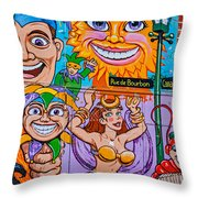 Mardi Gras North 2 Throw Pillow