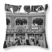 Mardi Gras North - Bw Throw Pillow