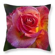 Mardi Gras Rose Throw Pillow