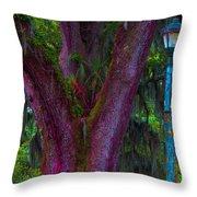 Mardi Gras Tree Throw Pillow