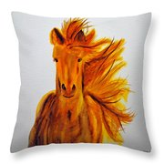 Mare In Motion Throw Pillow