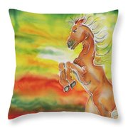 Mare Scare Throw Pillow