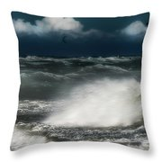 Mareggiata A Ponente - Eastern Seastorm Throw Pillow