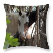 Mares In Trees Throw Pillow