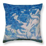 Mare's Tails Throw Pillow
