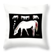 Mares Tale Throw Pillow