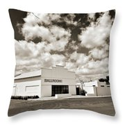 Marfa Ballroom In Sepia Throw Pillow