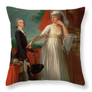 Margaret Callander And Her Son James Kearney  Throw Pillow