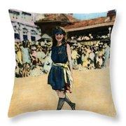 Margaret Gorman, 1921 Throw Pillow