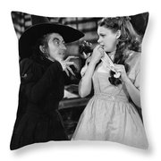 Margaret Hamilton And Judy Garland In The Wizard Of Oz 1939 Throw Pillow