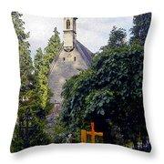 Margarethenkapelle 4 Throw Pillow