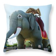 Margate New Jersey - Lucy The Elephant Throw Pillow